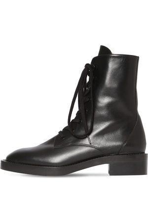 Stuart Weitzman 35mm Sondra Shine Leather Ankle Boots