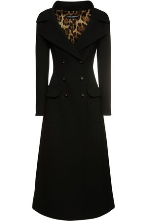 Dolce & Gabbana Double Breasted Wool Long Coat
