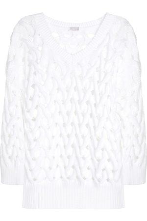 Brunello Cucinelli Kvinder Strik - Exclusive to Mytheresa – Cotton-blend sweater