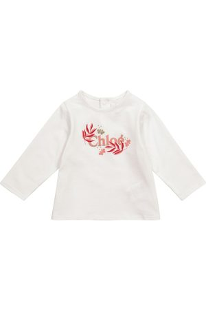 Chloé Kids Baby logo cotton jersey T-shirt