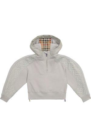 Burberry Kids Piger Sweatshirts - Quilted cotton hoodie