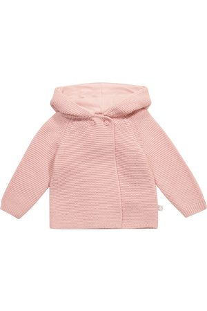 Stella McCartney Baby hooded cotton and wool cardigan