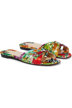 Christian Louboutin Nicol Is Back floral silk-satin sandals
