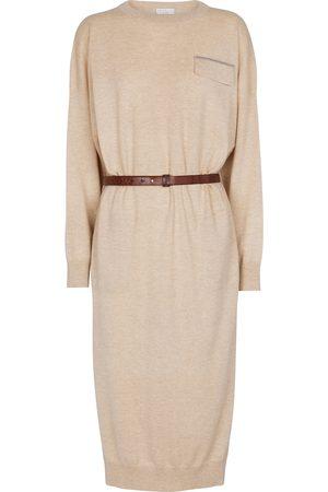 Brunello Cucinelli Belted cashmere sweater dress