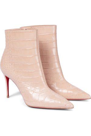 Christian Louboutin Kvinder Ankelstøvler - Croc-effect leather ankle boots