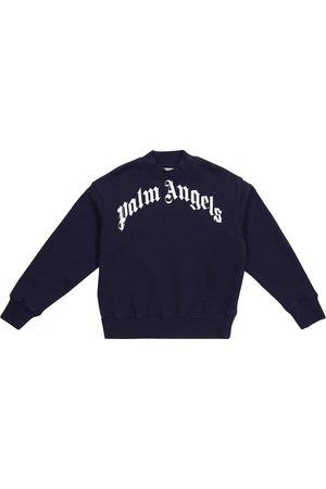 Palm Angels Drenge Sweatshirts - Logo cotton sweatshirt
