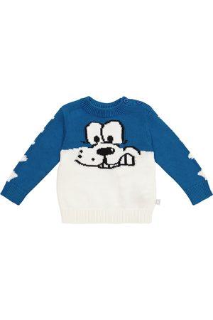 Stella McCartney Dog intarsia cotton-blend sweater