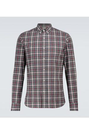 Brunello Cucinelli Mænd Langærmede skjorter - Checked flannel shirt