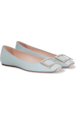 Roger Vivier Kvinder Ballerina - Trompette patent leather ballet flats