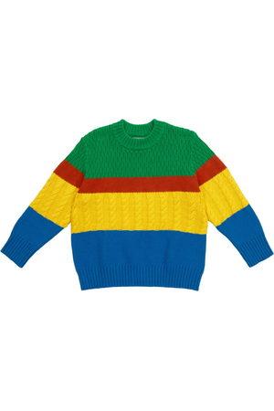 Stella McCartney Colorblocked fancy-knit sweater