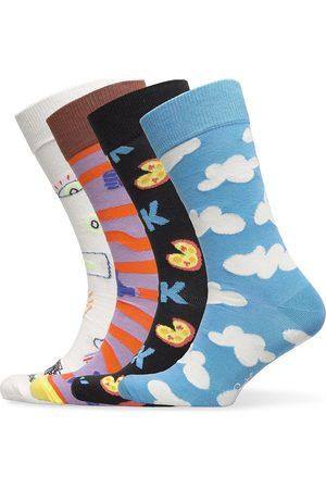 Happy Socks 4-Pack Good Times Socks Gift Set Underwear Socks Regular Socks Multi/mønstret