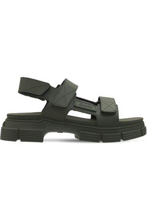 Ganni 45mm Rubber Trek Sandals