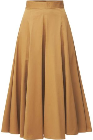 Dsquared2 Stretch Cotton Twill Midi Skirt