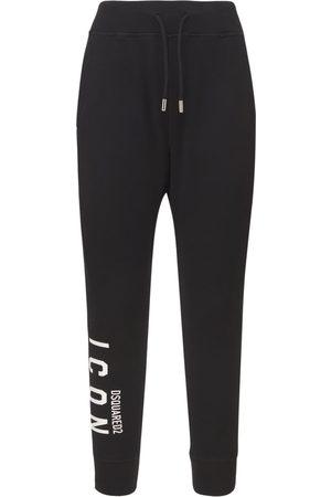 Dsquared2 Icon Logo Cotton Jersey Jogging Pants