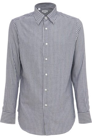 BRIONI Cashmere Cotton Striped Shirt