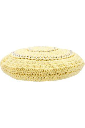 Ganni Cotton Knit Beret Hat