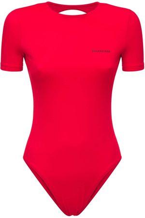 Balenciaga Open Back Lycra One Piece Swimsuit