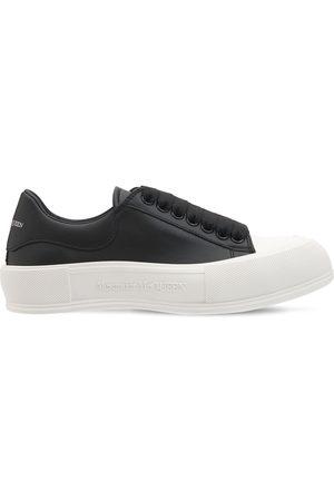 Alexander McQueen 45mm Deck Plimsoll Leather Sneakers