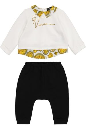VERSACE Baby logo stretch-cotton tracksuit