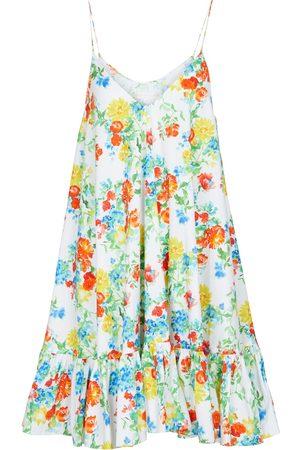 Caroline Constas Laurel floral cotton-blend minidress