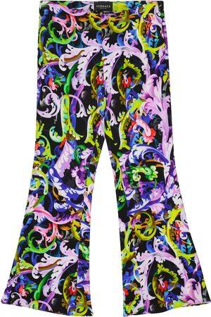 VERSACE Baroccoflage stretch-cady pants