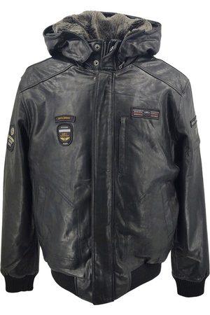 Levinsky Captain Hood Goat Distress Leather Jacket