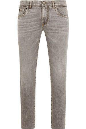 Dolce & Gabbana Mænd Slim - Smalle jeans med logoplade