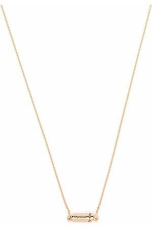 Le Gramme Halskæder - Poleret capsule halskæde i 18 karat guld med vedhæng