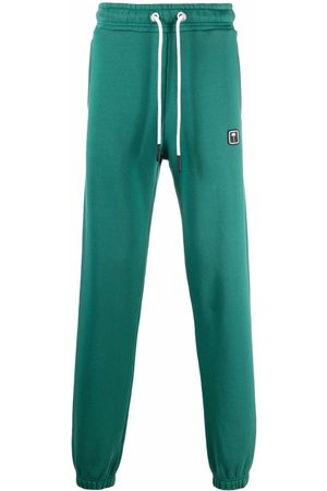 Palm Angels PXP SWEATPANTS FOREST GREEN WHITE