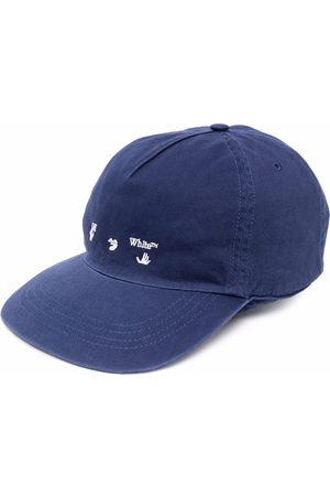 OFF-WHITE Mænd Kasketter - OW LOGO BASEBALL CAP DEEP BLUE WHITE