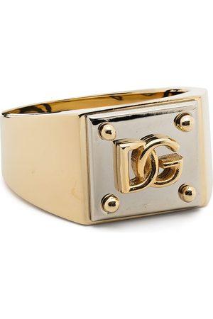 Dolce & Gabbana Mænd Ringe - Tofarvet ring med logo