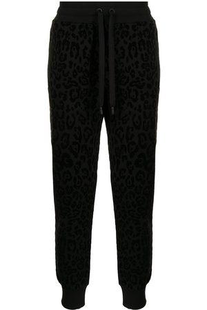 Dolce & Gabbana Mænd Joggingbukser - Træningsbukser med leopardtryk