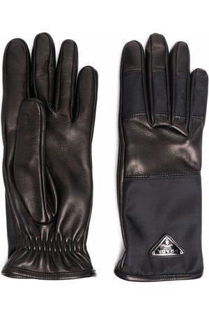 Prada Mænd Handsker - Handsker med paneler og logo