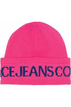 Versace Jeans Couture Strikket hue med logotryk