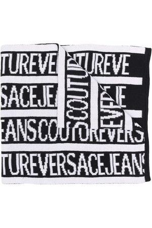 VERSACE Mænd Tørklæder - Intarsia-strikket tørklæde med logo