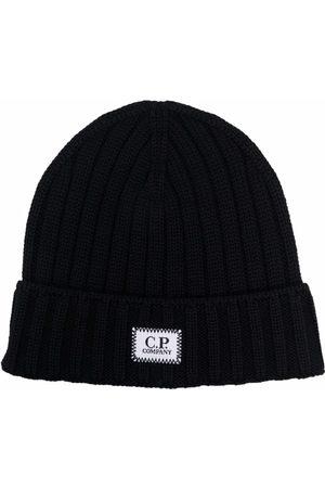 C.P. Company Strikket hue med logomærke