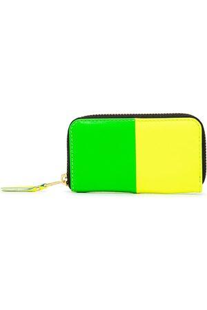 Comme des Garçons Colour-block zip-around wallet