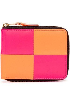 Comme des Garçons Punge - Bold-check zip-around wallet
