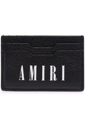 AMIRI Kortholder i læder med logotryk