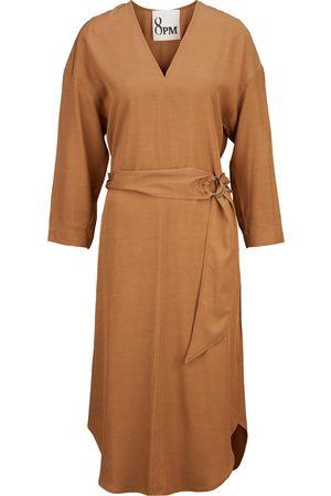 8PM Kvinder Casual kjoler - Midikleid mit Gürtel