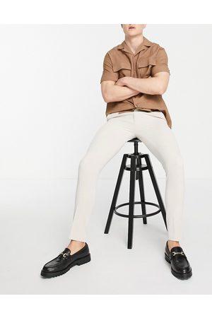 ASOS Smarte super skinny Oxford-bukser i grålig farve-Neutral