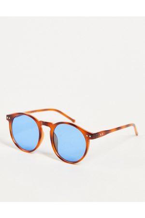 AJ Morgan Pause - Runde unisex-solbriller i rustrødt skildpaddemønster