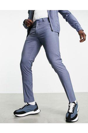 ASOS DESIGN Smalle, elegante bukser i denimblå - Del af sæt