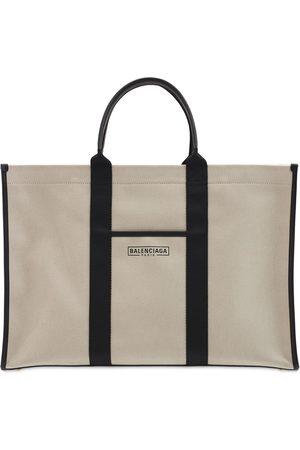 Balenciaga Logo Cotton Canvas Tote Bag