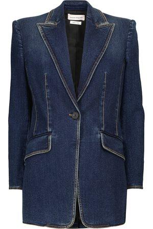 Alexander McQueen Single-breasted denim blazer