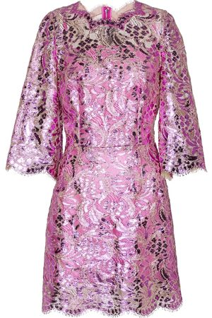 Dolce & Gabbana Laminated lace minidress