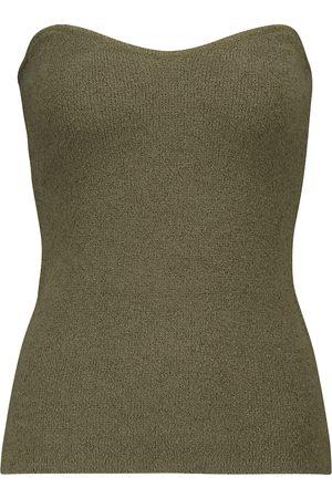 Nanushka Kvinder Bustiers - Tua ribbed-knit cotton-blend bustier