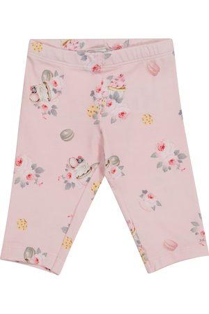 MONNALISA Baby floral stretch-cotton leggings