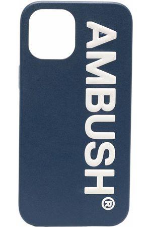 AMBUSH Mobil Covers - IPHO 12 PROMAX CASE MAXI LOG NAVY TOFU