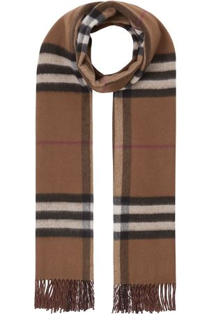 Burberry Tørklæder - Vendbart kashmirtørklæde med tern